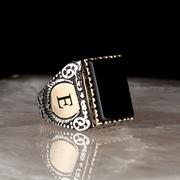 Авторское серебряное кольцо,  перстень,  печатка ручной работы 925 пробы